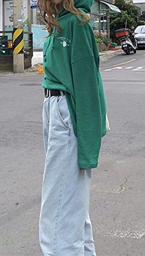 Vert Capuche Imprime Jumpers Printemps Pulls Lache Shirts Chemisiers Longues Shirts et Manches Femmes Automne Hauts Tops T Sweats Casual Sweat vZ1IgqHZS