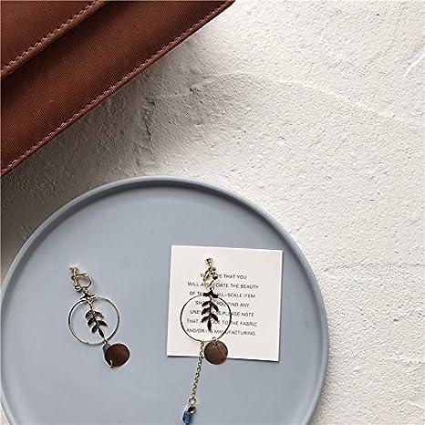 d062a46354d8 BAOZIV587 Aretes Cristal Moda El diseño de las hojas de hierbas aromáticas  de largo