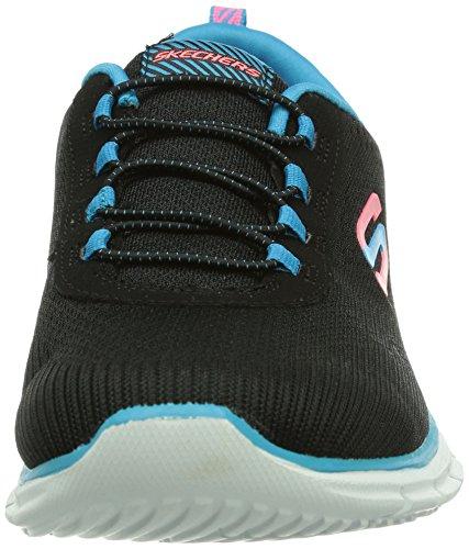 Skechers Sport Womens Maker Maker Sneaker Nero / Blu