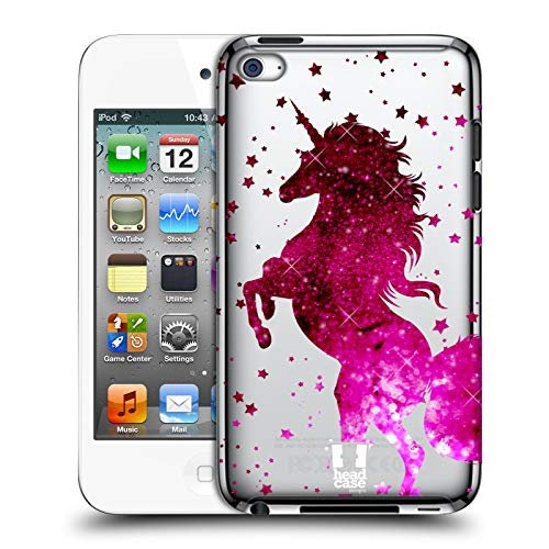 Head Case Designs Pink Unicorn Sparkle Hard Back Case Compatible for Apple iPod Touch 4G 4th Gen (4th Gen Hard Case Ipod)