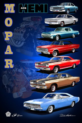 (MOPAR CELEBRATES 50 YEARS OF THE 426 ENGINE - size 20 X 30)