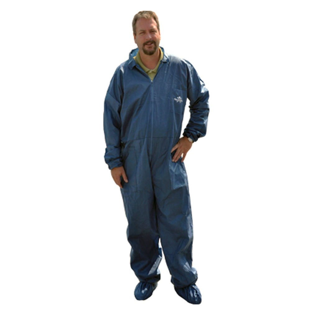 SHUBEE C-SB-CA-DB-XL COVERALL, TRISHIELD, DARK BLUE, 5 POCKETS, ELASTIC WRIST, OPEN CUFF, XL MC371810