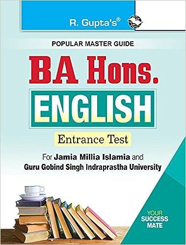 Buy BA Hons  English Entrance Exam Guide for JMI & GGSIPU Book