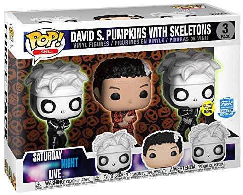 (Funko POP! SNL David Simpon Pumpkins with Skeletons Glows in The Dark #16 3 Pack)