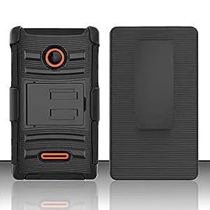 Zizo Phone Case for Nokia Lumia 435 - Retail Packaging - Black