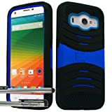 zte imperial ll phone cases - for ZTE Imperial ll 2 Arch Hybrid Stand Cover Case Stylus Pen ApexGears (TM) Black Blue