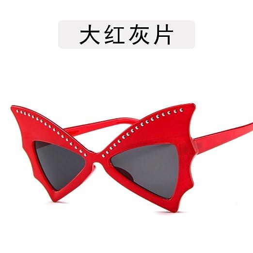Yangjing-hl Gafas de Sol para Hombres y Mujeres Bat Big Box ...