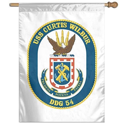 Navy USS Curtis Wilbur DDG-54 Home Banner Flags Springtime 27