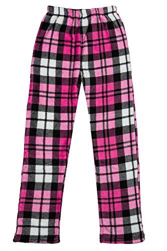 Wintery Dream - Girls Super Cozy Fleece Pajama Bottom Lounge Pants (7 - 14)