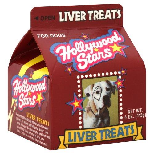 Hollywood stars - Pet Treats Liver,4 Oz, Pack of 8 (Hollywood Stars Dog Treats)