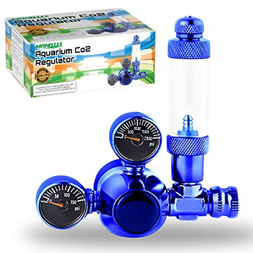 MOD Complete CO2 Regulator Aquarium Mini Stainless Steel Dual Gauge Display Bubble Counter and Check Valve w/ Solenoid 110V Fits Standard US Tanks from MOD Complete