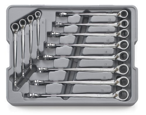 GearWrench 85388 12 Piece Reversible X-Beam Combination Ratcheting Wrench Set Metric by Apex Tool Group (X-beam Piece Gearwrench 12)