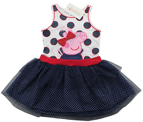 Birthday Pig - Peppa Dress Tutu Birthday Dress Vestido Peppa Pig Girls Party Dress (5/6y)