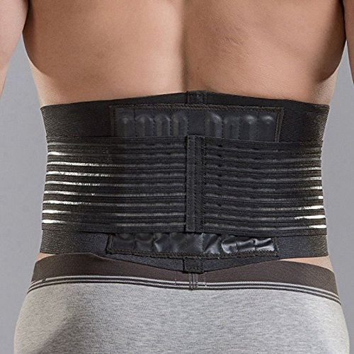 [Waist Support Double Layer Lumbar Back Eight Closely Arranged Pvc Props Bolster And Ease Pressure On Spine.] (Loggers And Joggers Costume)