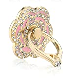 Phone Stand, PAMISO Luxury rose shape Universal Phone Stand ,Multi-Angle Portable Stand, 360 Rotation 3D Aluminium Alloy Ring Grip/Phone Holder for iPhone,Samsung, All Cell Phones (Pink)