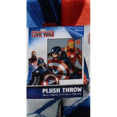 Cool and Fun Avengers Civil War Polyester Throw for Kids Boys Bedroom: Home & Kitchen