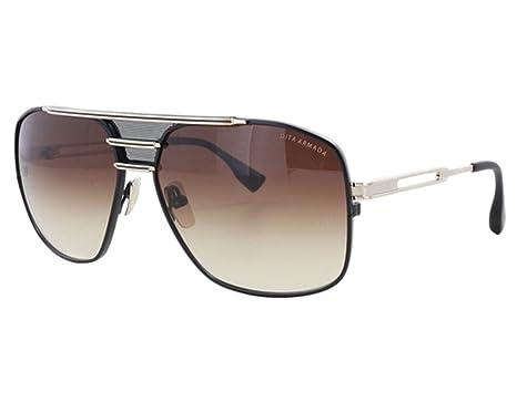 649ce8d91e09 DITA Armada Men DRX-2045-B Gold   Black Aviator Sunglasses with Brown Lens
