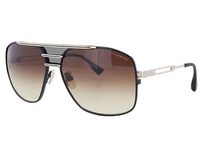 Dita Armada Men DRX-2045-B Gafas de sol aviador dorado y ...