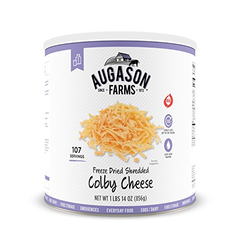 (Augason Farms Freeze Dried Shredded Colby Cheese 1 lbs 14 oz No. 10 Can)