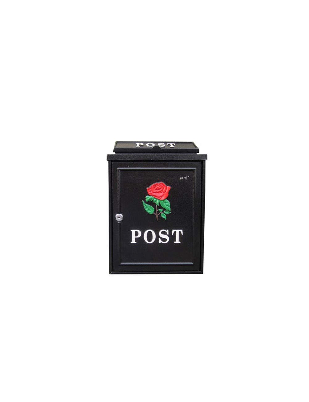 郵便箱屋外防水レターボックスの壁吊りクリエイティブポスト   B07H92MK2J