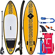 redder Stand Up Paddle Board Inflatable SUP Board All Round Yoga SUP Surf Board Adult and Kids Paddle Board wi