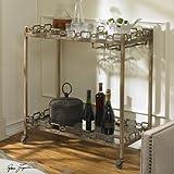 Gorgeous Antique Style Serving Bar Cart
