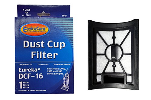 (1) Eureka Style DCF 16, Hepa W/activated Charcoal Filter Dust Cup Vacuum Cleaner, Altima Bagless, SurfaceMax, Uno Upright, 62736A, 20232462, 20-2324-62, 76552, E-62736 ()