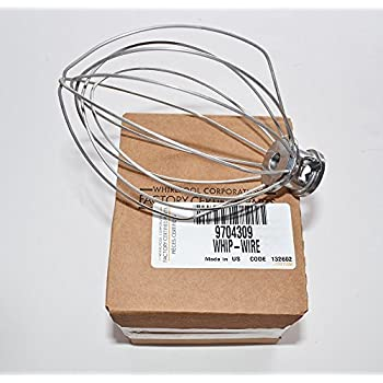 PART # 9704309 GENUINE FACTORY OEM MIXER WIRE WHISK WHIP FOR KITCHENAID AND WHIRLPOOL