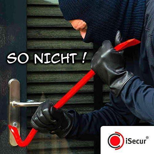 5er Aufkleber-Set Alarm-gesichert I hin/_076 I Achtung Objekt wird elektronisch /überwacht I f/ür Fenster-Scheibe und T/ür I au/ßenklebend wetterfest