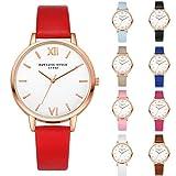 Watches,BCDshop Women Simple Fashion Elegant Leather Band Analog Alloy Quartz Movement Wrist Watch White Face