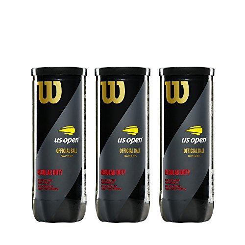Wilson Sporting Goods US Open Promo Regular Duty Tennis 3 Ball Can (3 Pack)