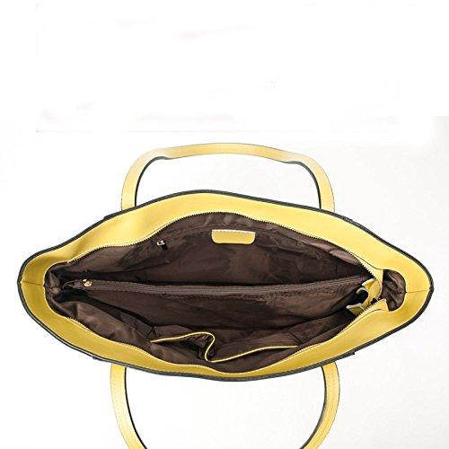 à Sacs Simple En Capacité Grande Sacs Main De Bandoulière Amérique Paquet Sac Mode Sacs Cuir En Dames Sacs à Main De De Yellow Grands Paquet Europe à Occasionnel Et Nouveau En E0Hwq