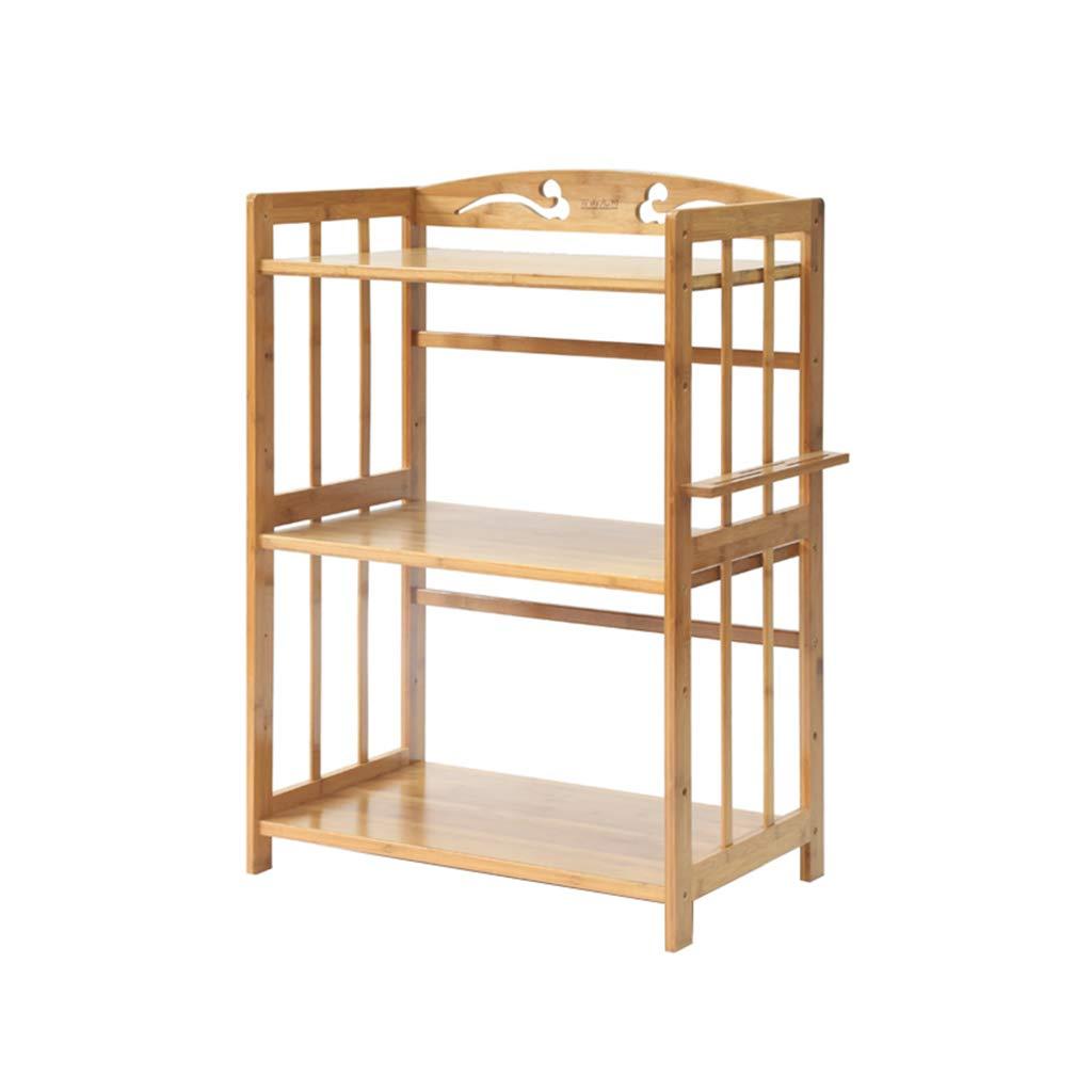 Soporte de microondas de madera sólida de 3 niveles Carro de ...