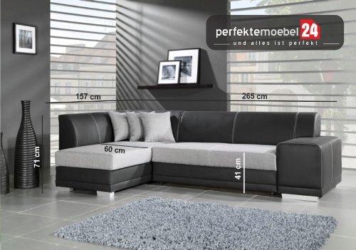 JENNIFER Sofagarnitur Wohnlandschaft Eckcouch Couch Sofa mit Schlaffunktion Ecke (gobi)