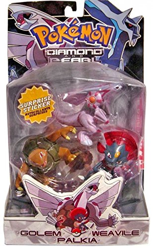 Pokemon Diamond and Pearl Series 2 Basic Figure 3-Pack Palkia, Weavile and - Palkia Pokemon Pearl Diamond