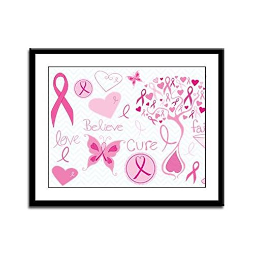 Framed Panel Print Cancer Cure Awareness Love Support (Cancer Panel Framed)