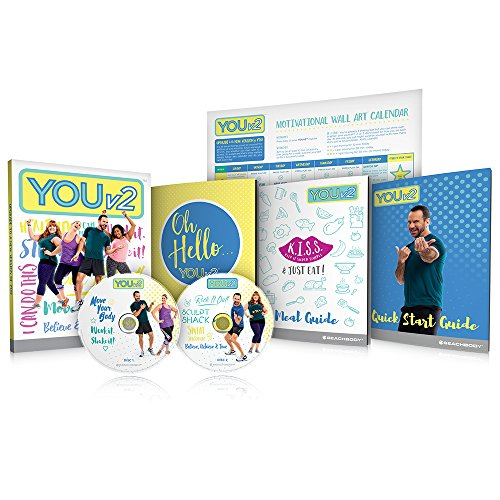 YOUv2 Beginner Health and Fitness Workout DVD Program and Meal Guide (Beachbody Cleanse)