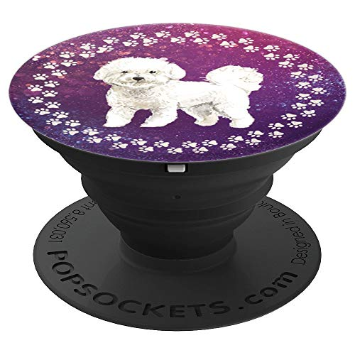 (Cute Bichon Frise Artistic Gift for Dog Lover - PopSockets Grip and Stand for Phones and Tablets )