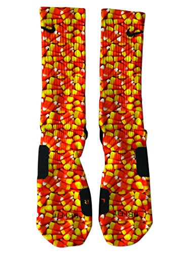 Custom Nike Elite Candy Corn Socks Medium