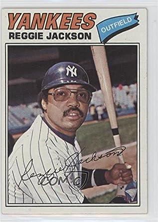 Amazoncom Reggie Jackson Baseball Card 1977 Topps Burger