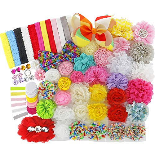Fashion Headband Kids Crafts Kit For Girls Baby Shower Decorating DIY Hair Bow Maker Felt Flower Accessories