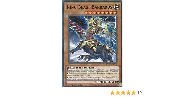 King Beast Barbaros Common 1st Edition x3 ETCO-EN030 Near Mint