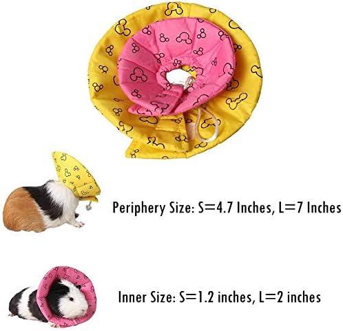 DjlzU Mini Pet Neck Ring Portable Small Pet Protective Collar Soft Mini Elizabeth Circle Mini Neck Cone for Hamster Hedgehog Parrots 1pc Yellow L