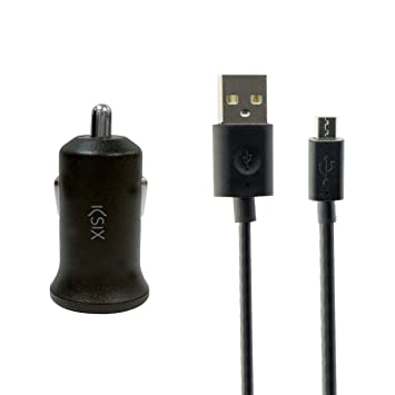 Ksix B1740CR3A - Cargador de Coche (USB 2 a y con Cable ...