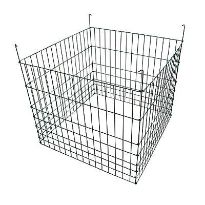 "MTB Garden Wire Compost Bin 36"" L x36 W x 30"" H&30"" L x30 W x 24"" H Black & Green"