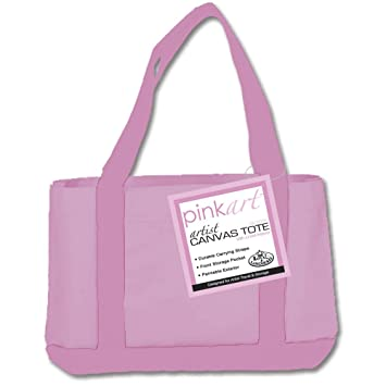 Amazon.com: Royal & Langnickel Pink Art Canvas Tote: Arts, Crafts ...