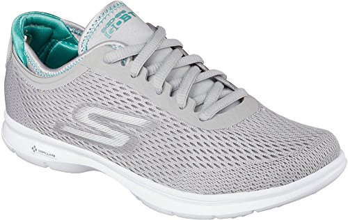 Go Trainers Grey Step Women's Skechers w51PTzqn8x