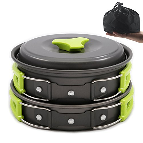Aluminum Outdoor Portable Cookers Camping Pots Set For 1-2 Peoples - 3