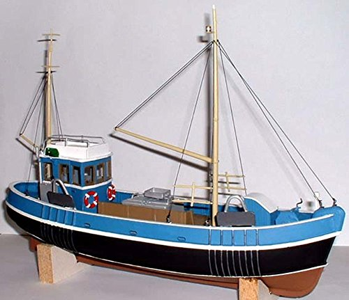 (Langley Models 45ft Fishing Trawler Waterline Boat/Ship O Scale UNPAINTED Kit OM1a)