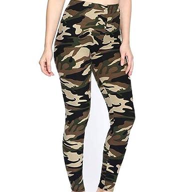 VPASS Mujer Pantalones, Verano Pantalones Impresión ...